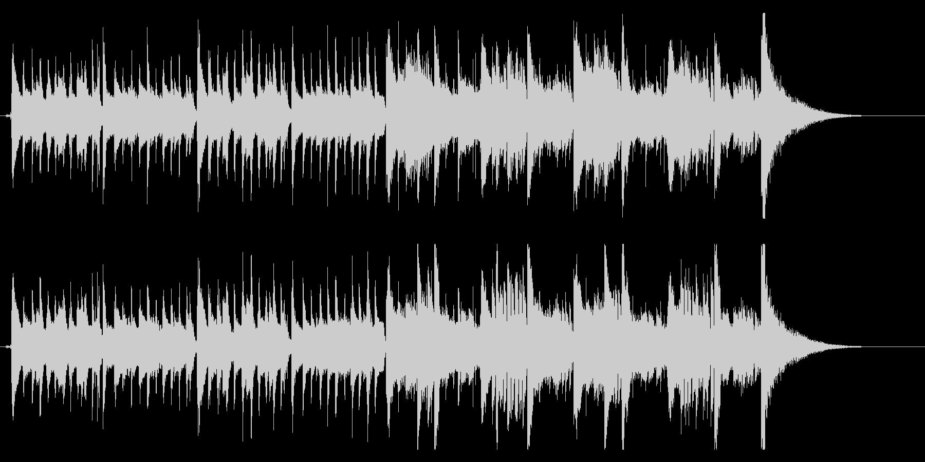 生録音マンドリンとアコギ落ち着いた雰囲気の未再生の波形