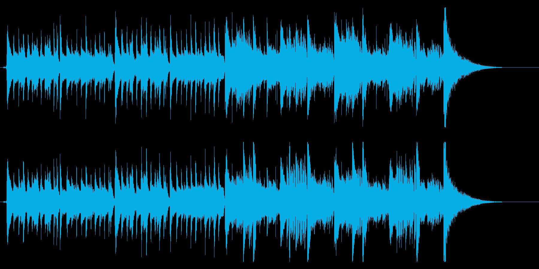 生録音マンドリンとアコギ落ち着いた雰囲気の再生済みの波形