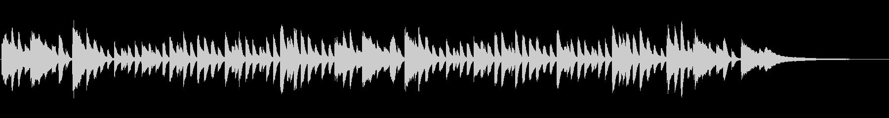 童謡「かたつむり」シンプルなピアノソロの未再生の波形