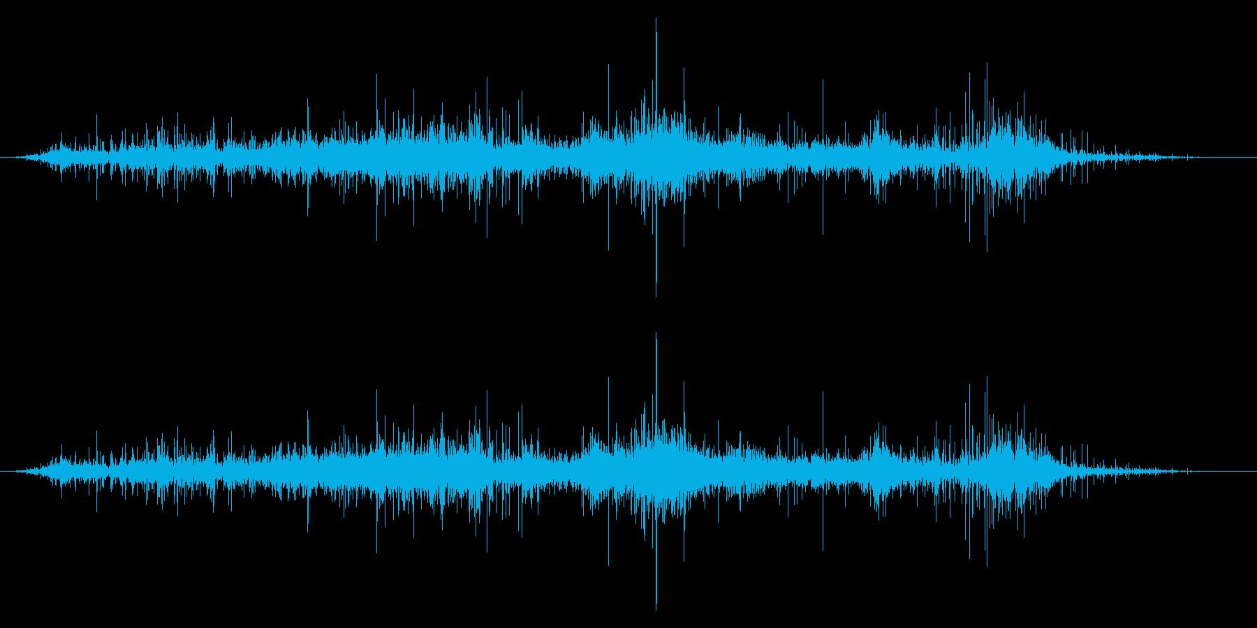 セロハンラップ:パッケージから削除の再生済みの波形