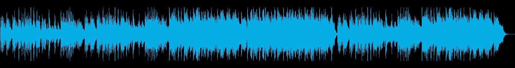 ストリングス等をバックにピアノメインの曲の再生済みの波形