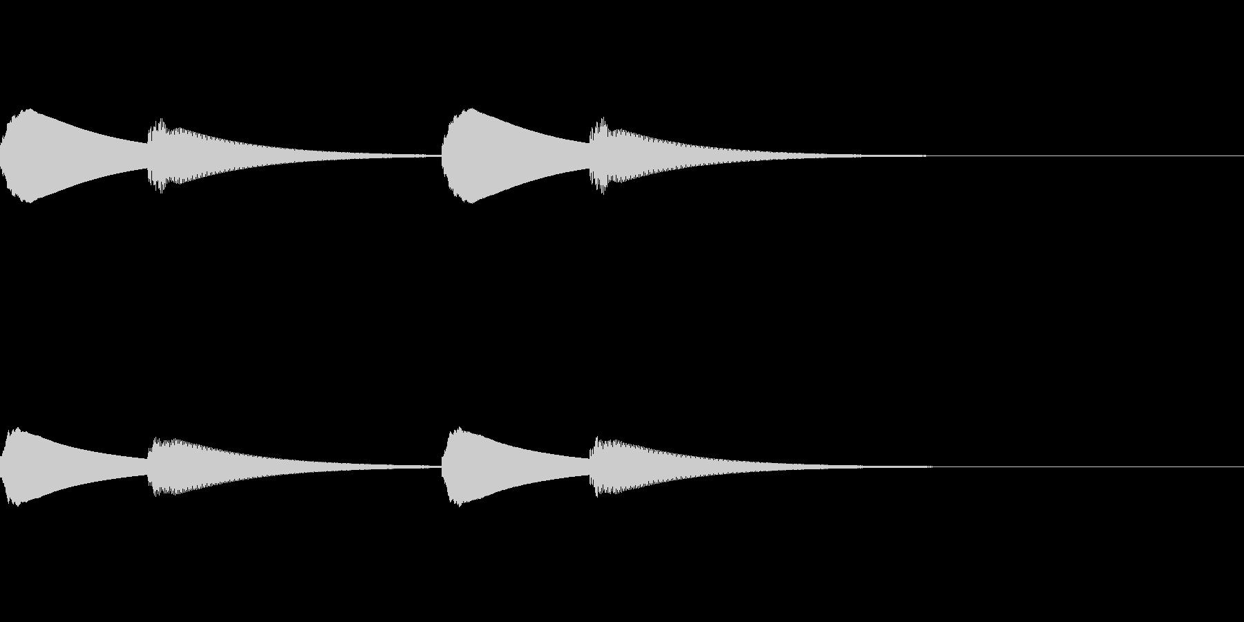 ピンポーン×2(入店やインターホンの音)の未再生の波形