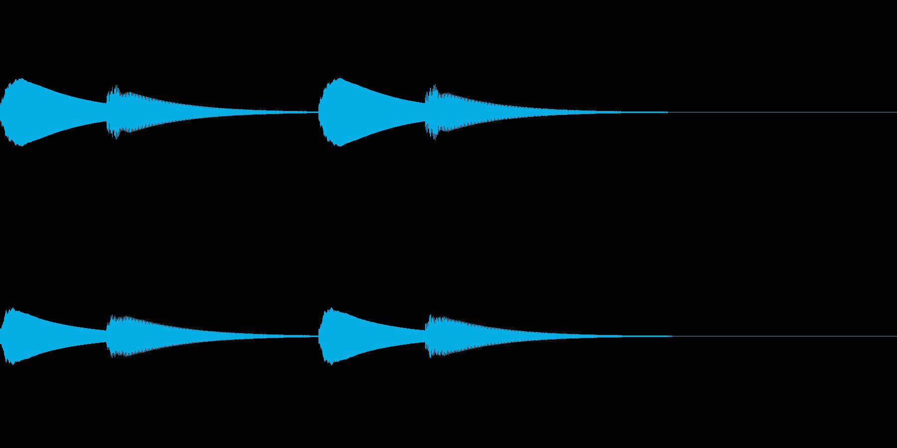 ピンポーン×2(入店やインターホンの音)の再生済みの波形