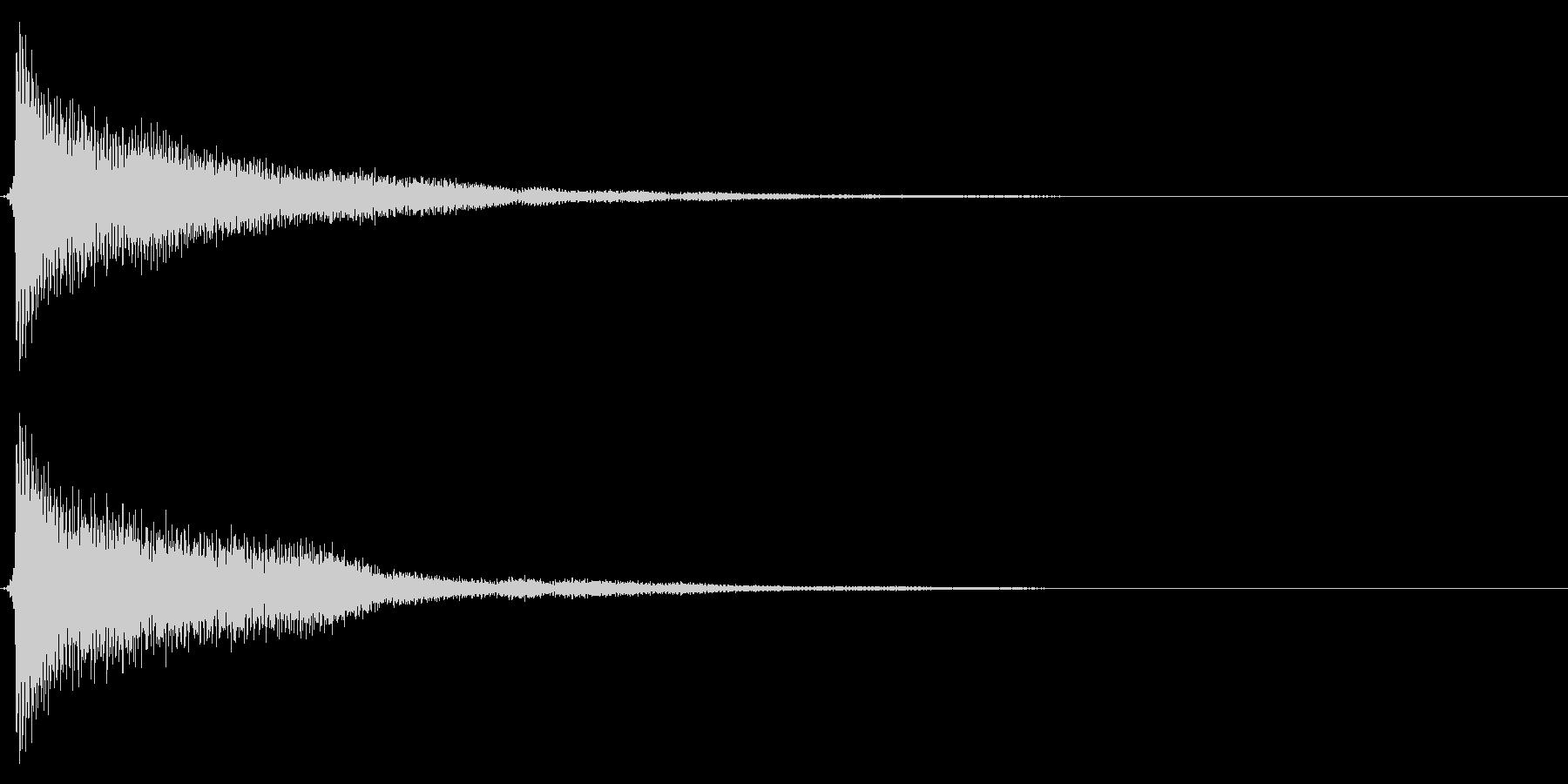 時計搭/時報/ゴーン/鐘/単発の未再生の波形