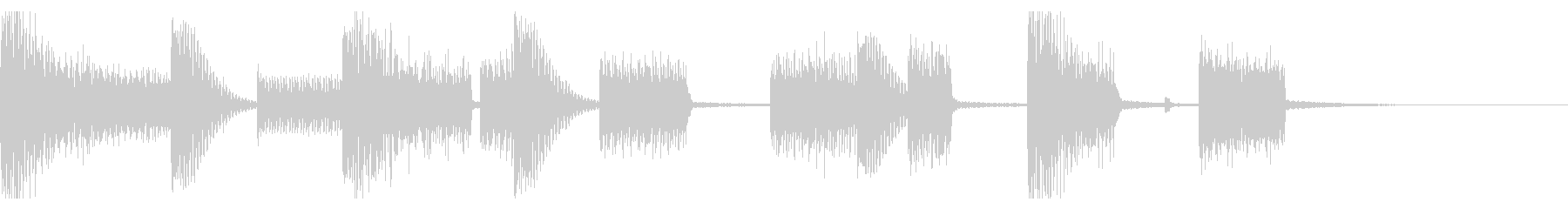 シンプルなチップチューンのジングルの未再生の波形