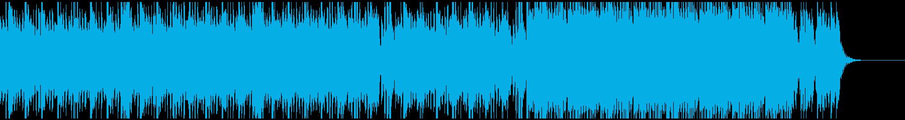 和太鼓と美メロのクワイヤ、ストリングスの再生済みの波形