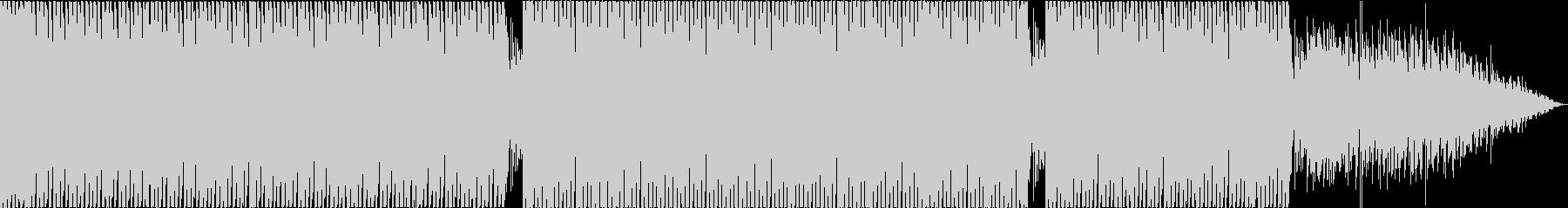 穏やかなハウスビートを用いたアンビエントの未再生の波形