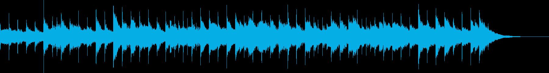 ミステリアスなオルゴールの曲の再生済みの波形