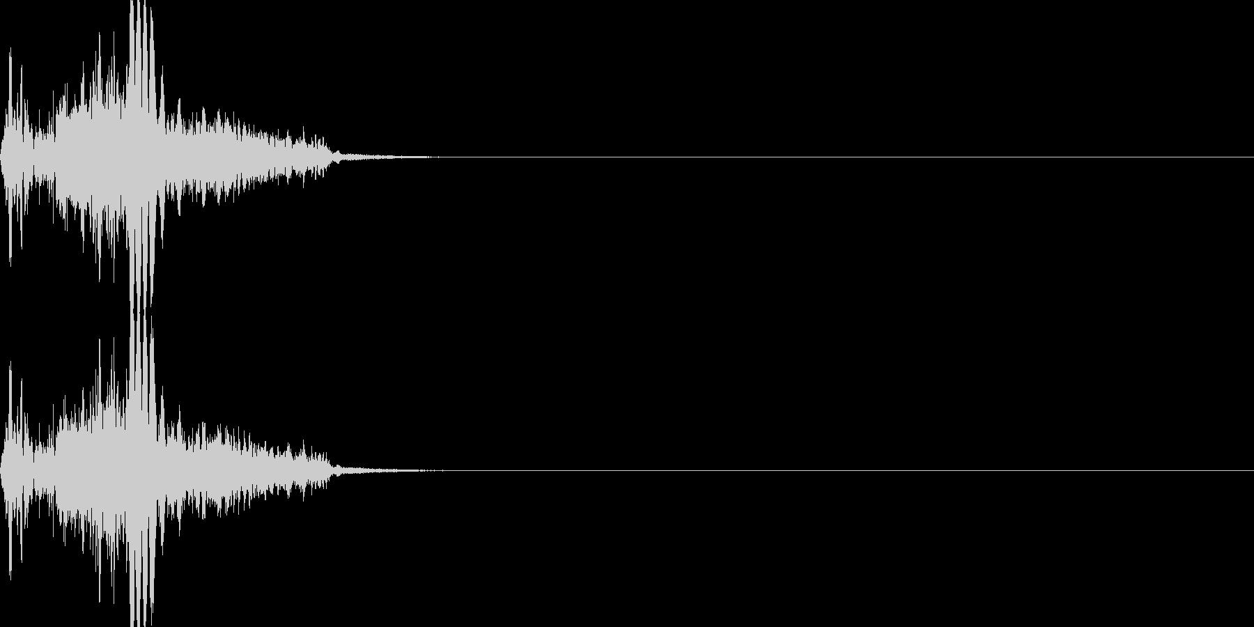 斬撃音・剣系武器の攻撃音の未再生の波形