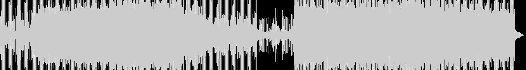 機械的でファンキーなハイテクミュージックの未再生の波形