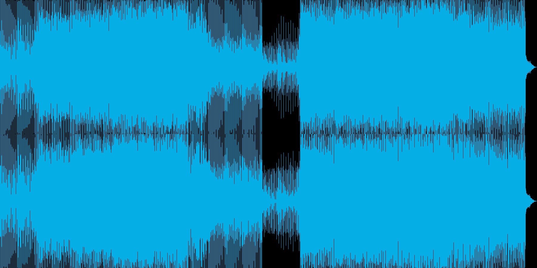 機械的でファンキーなハイテクミュージックの再生済みの波形