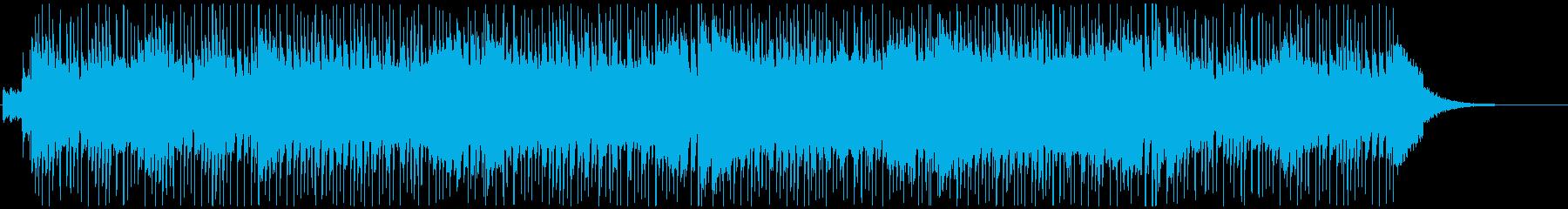 童謡「かえるの合唱」のロックバージョンの再生済みの波形