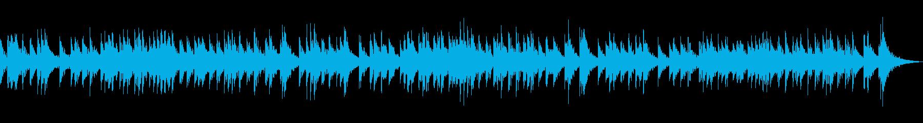 和風、幻想、メロディーのみのシンプル曲の再生済みの波形
