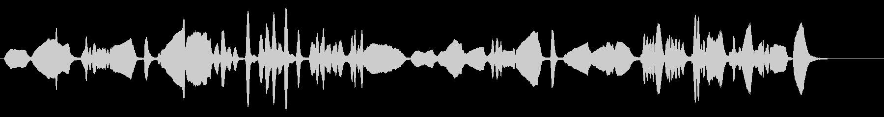 クラシカルなバイオリンソロの未再生の波形