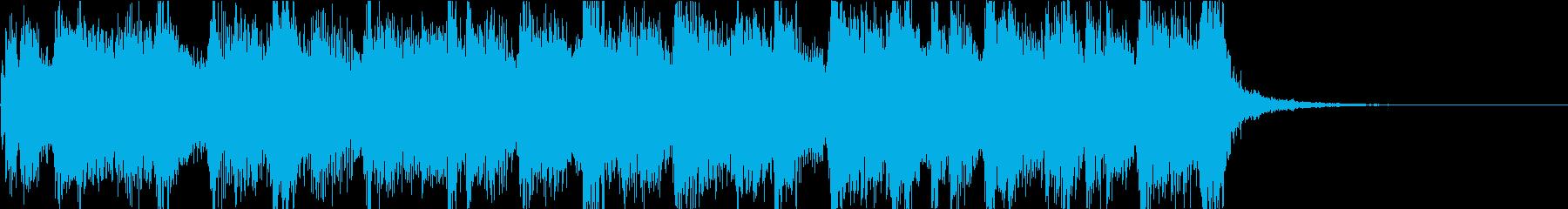 キャッチーでテクノなジングルの再生済みの波形
