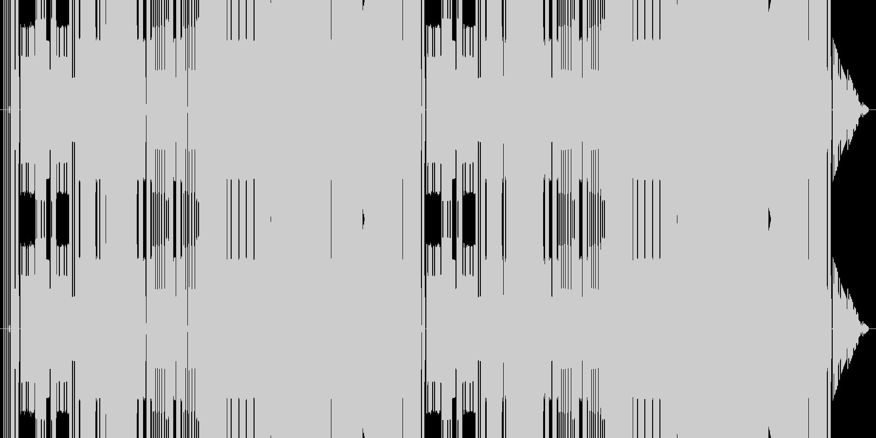 昔のファミコン同様、3和音でステージっ…の未再生の波形