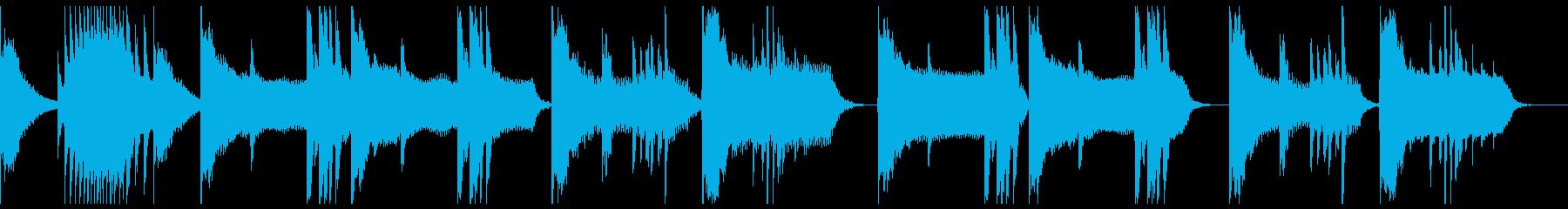 砂漠を連想させるアラビアンな曲の再生済みの波形