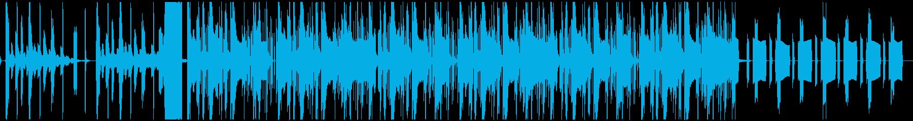 静かめhiphop エレクトロニカの再生済みの波形