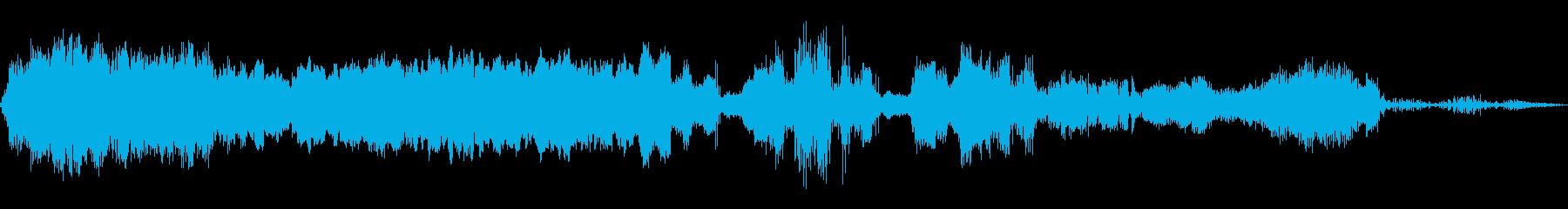歪んだ現実の音楽パッドの再生済みの波形