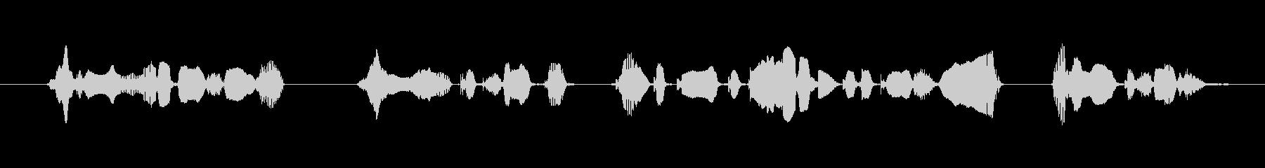レジにお並びの際は前後のお客様と間隔を…の未再生の波形