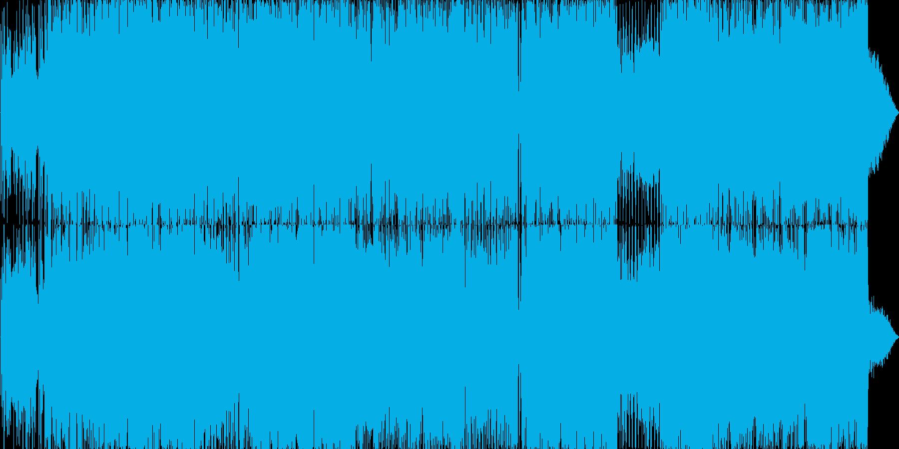 スーパーロボットのテーマ曲風の再生済みの波形
