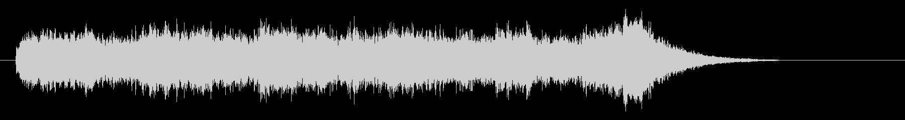 ピアノとコーラス音が混ざり合うバラードの未再生の波形