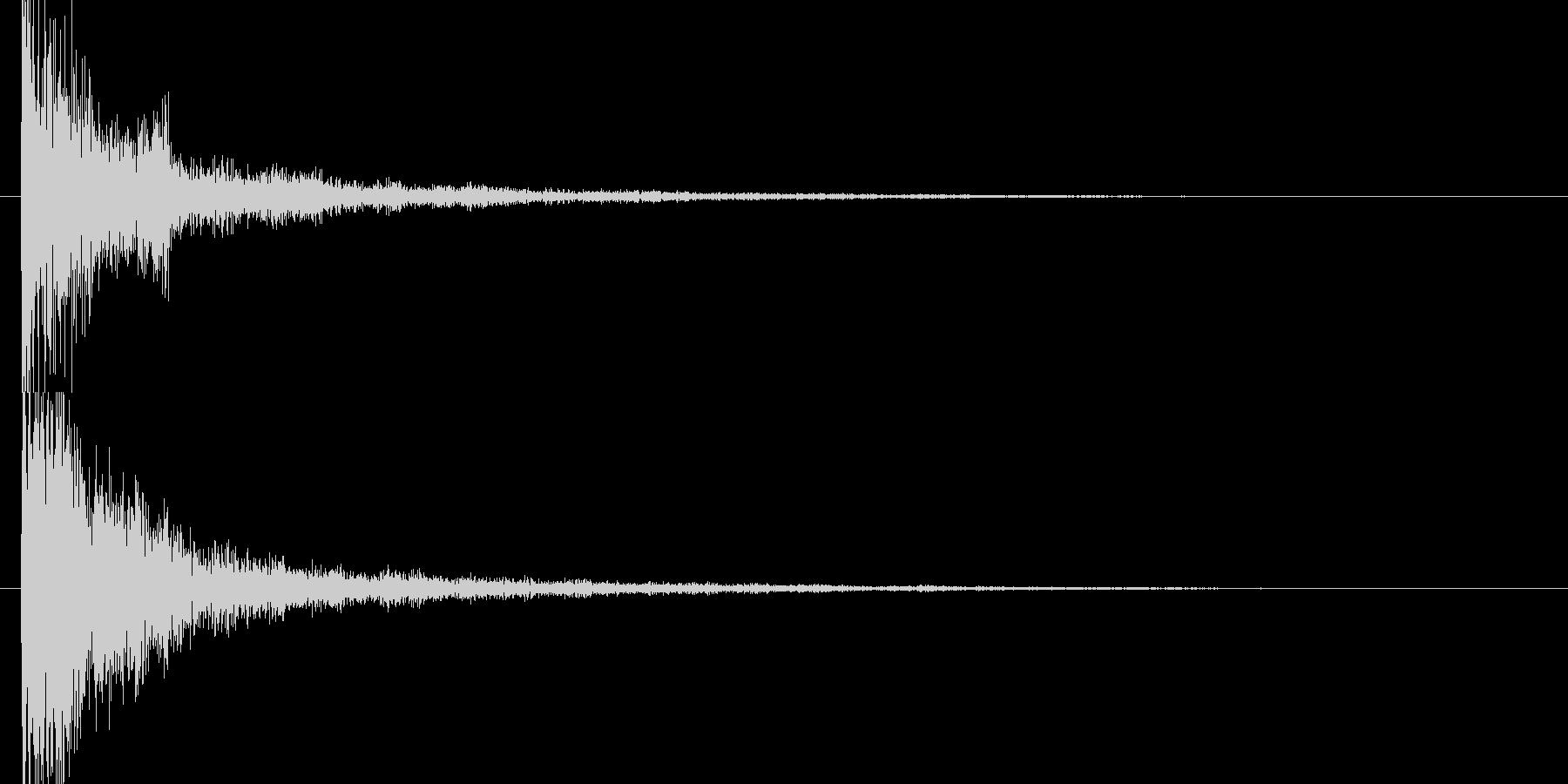 ジャーン和風スタートクリックの未再生の波形