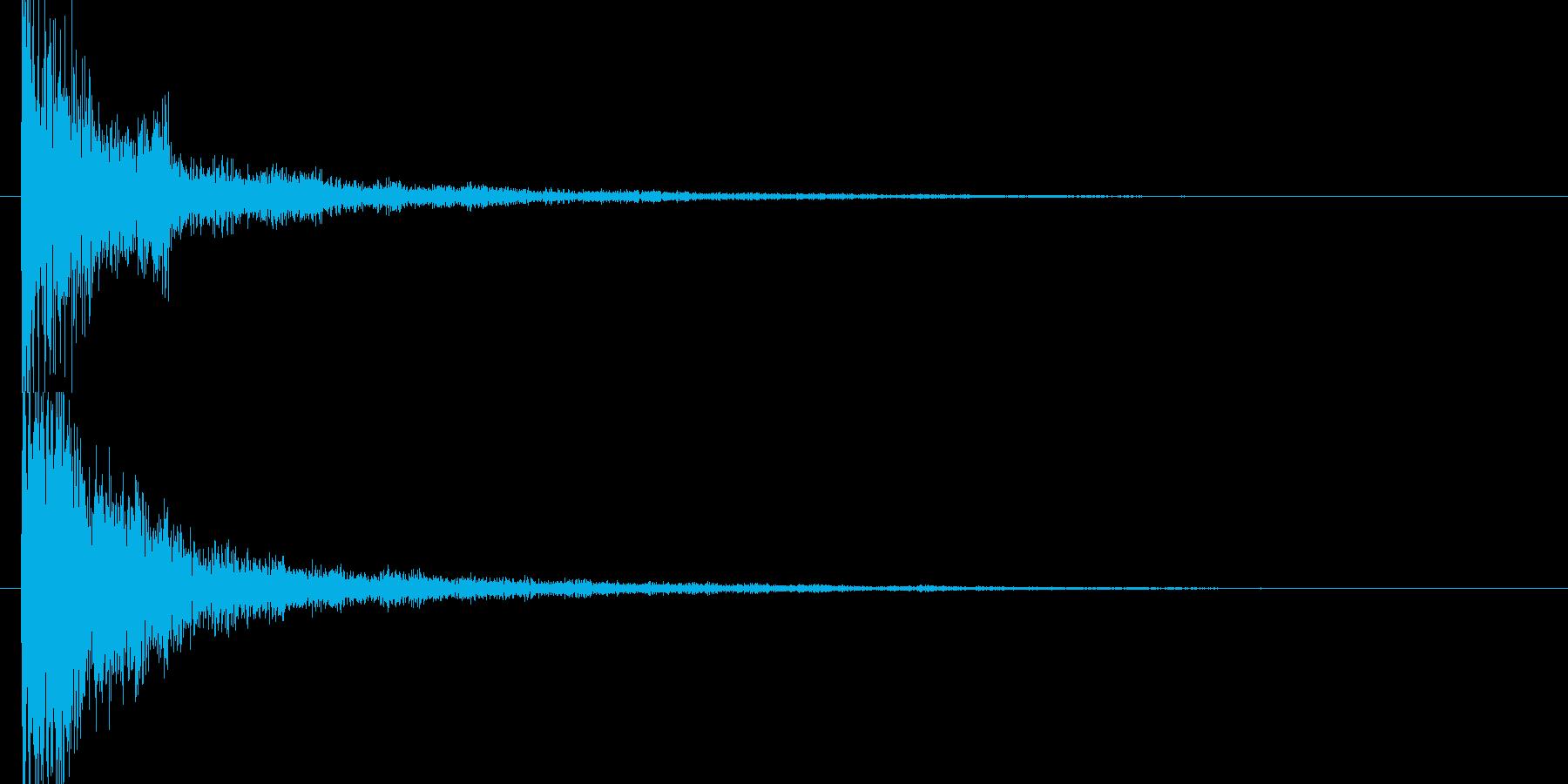ジャーン和風スタートクリックの再生済みの波形
