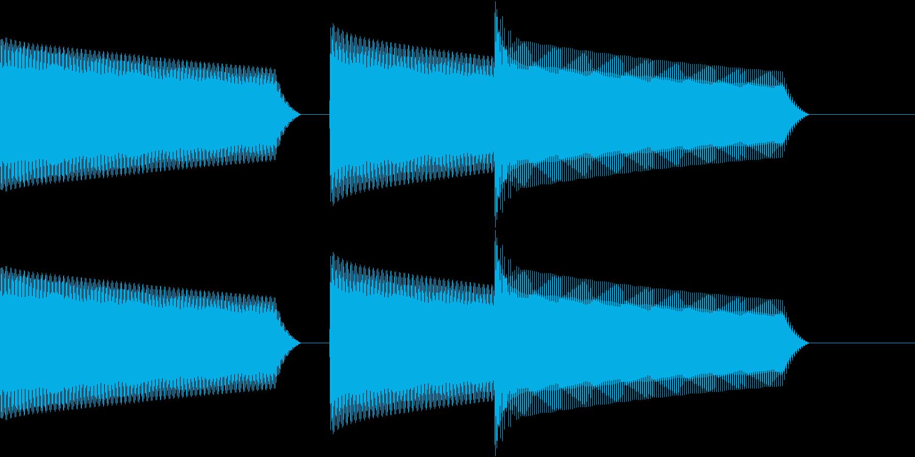 ATM 操作音 9の再生済みの波形