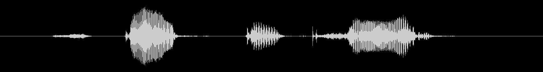 ステップ9(女性)の未再生の波形