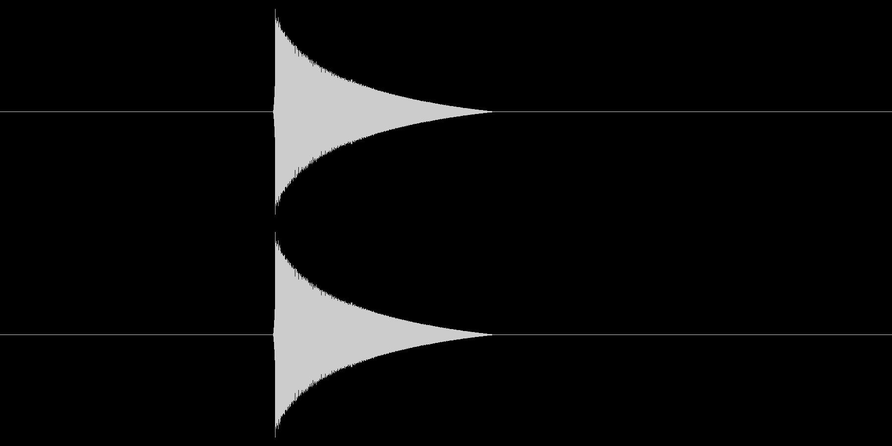 ファミコン風_ピュン_弾を打つ音1の未再生の波形