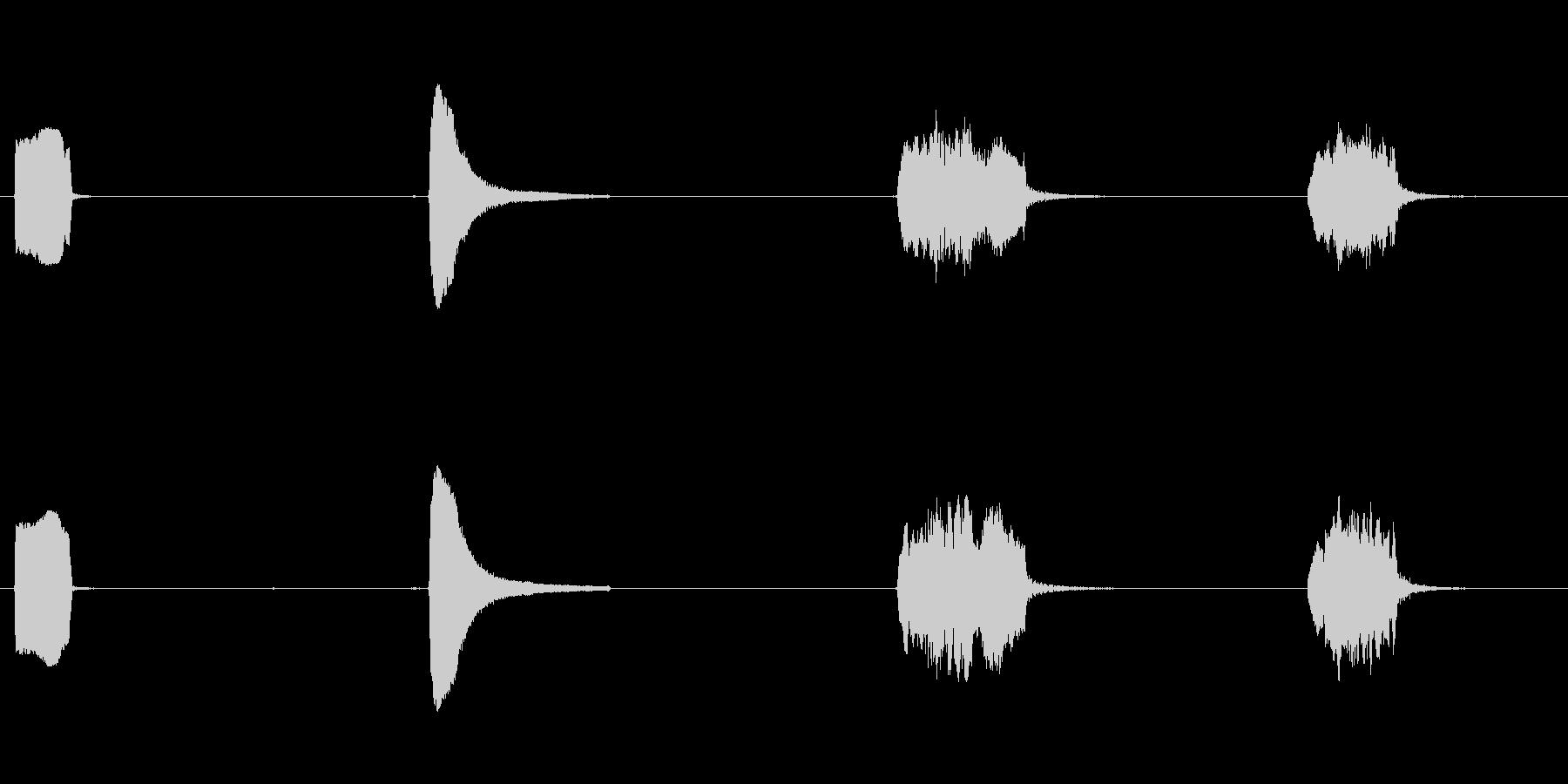 ロケット、小型、口IST、4つのバ...の未再生の波形