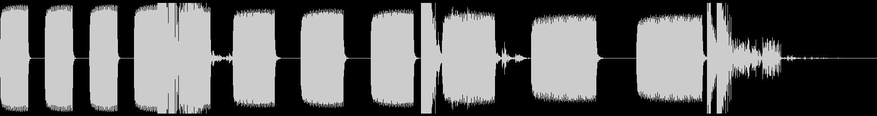 アラームクロック:電子音、ビープ音...の未再生の波形