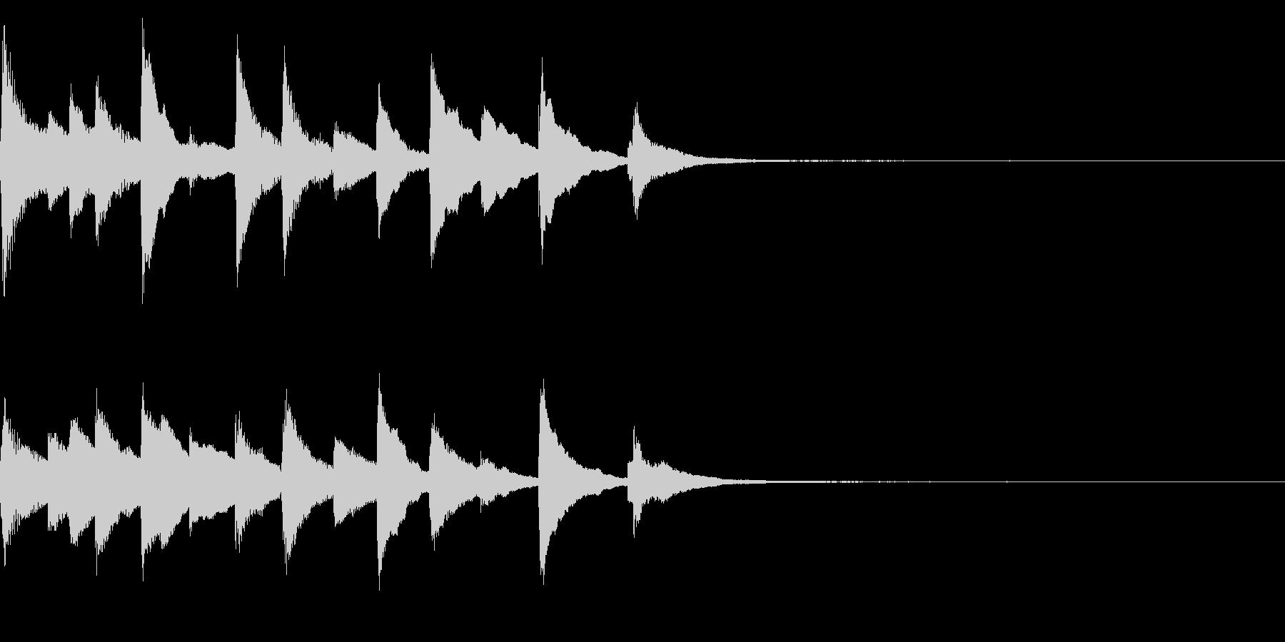 切ないピアノのジングル25の未再生の波形