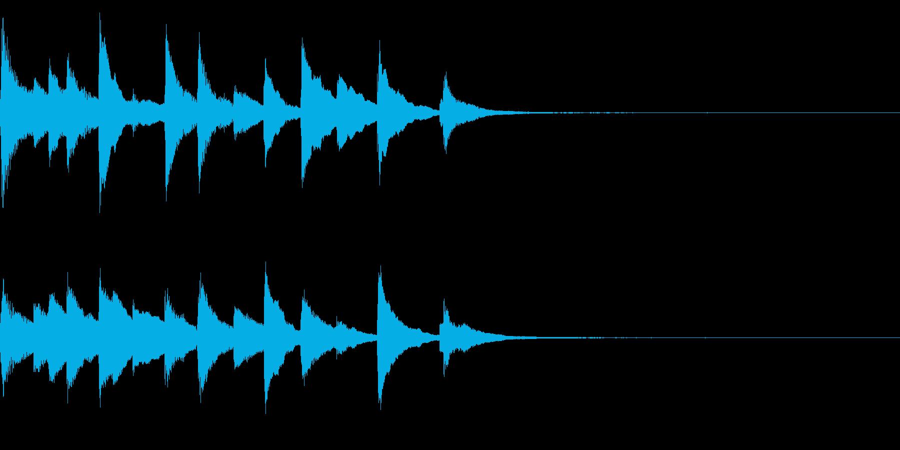 切ないピアノのジングル25の再生済みの波形