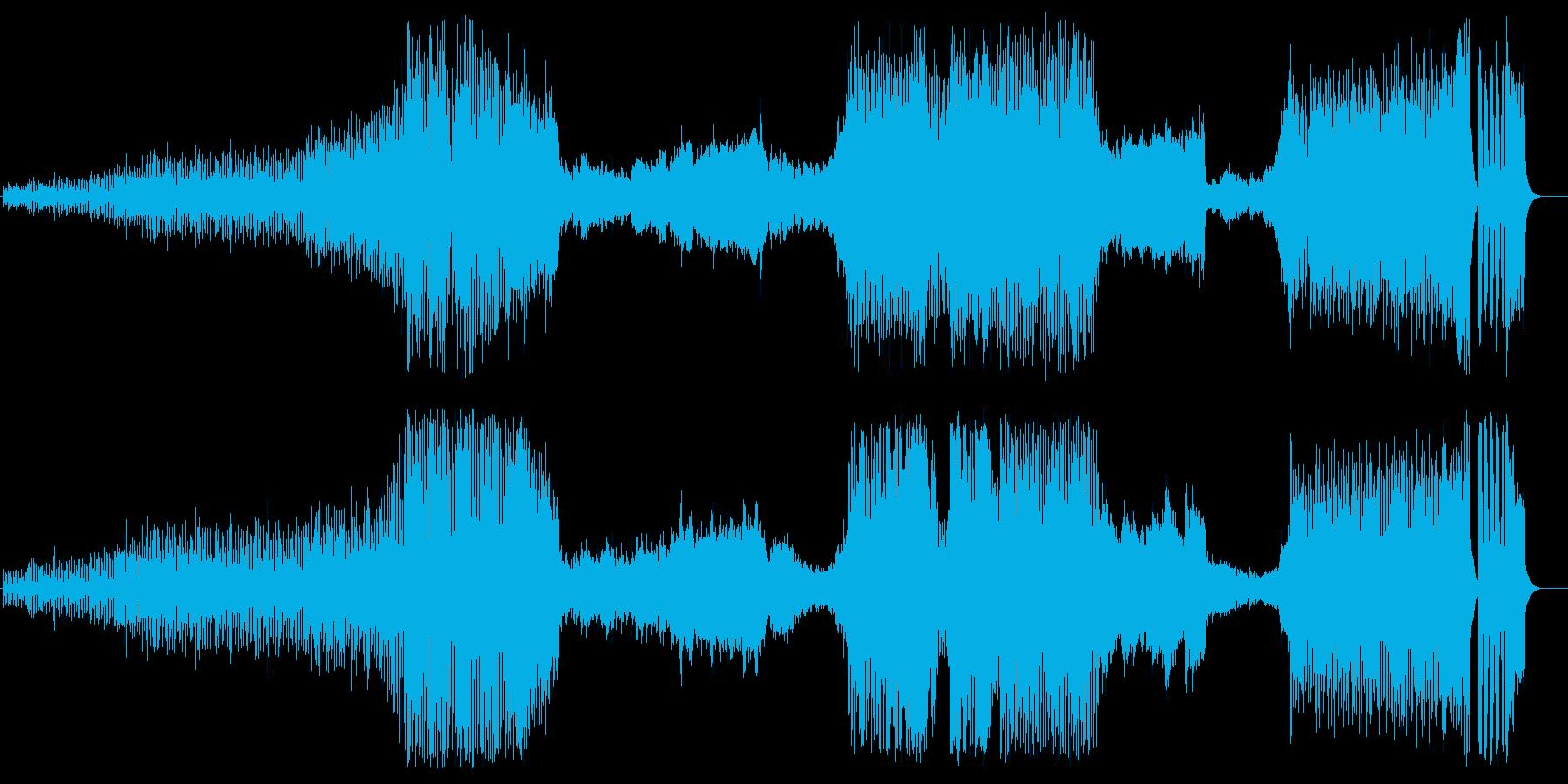 大きな大河ものタイトルイメージ組曲風の再生済みの波形