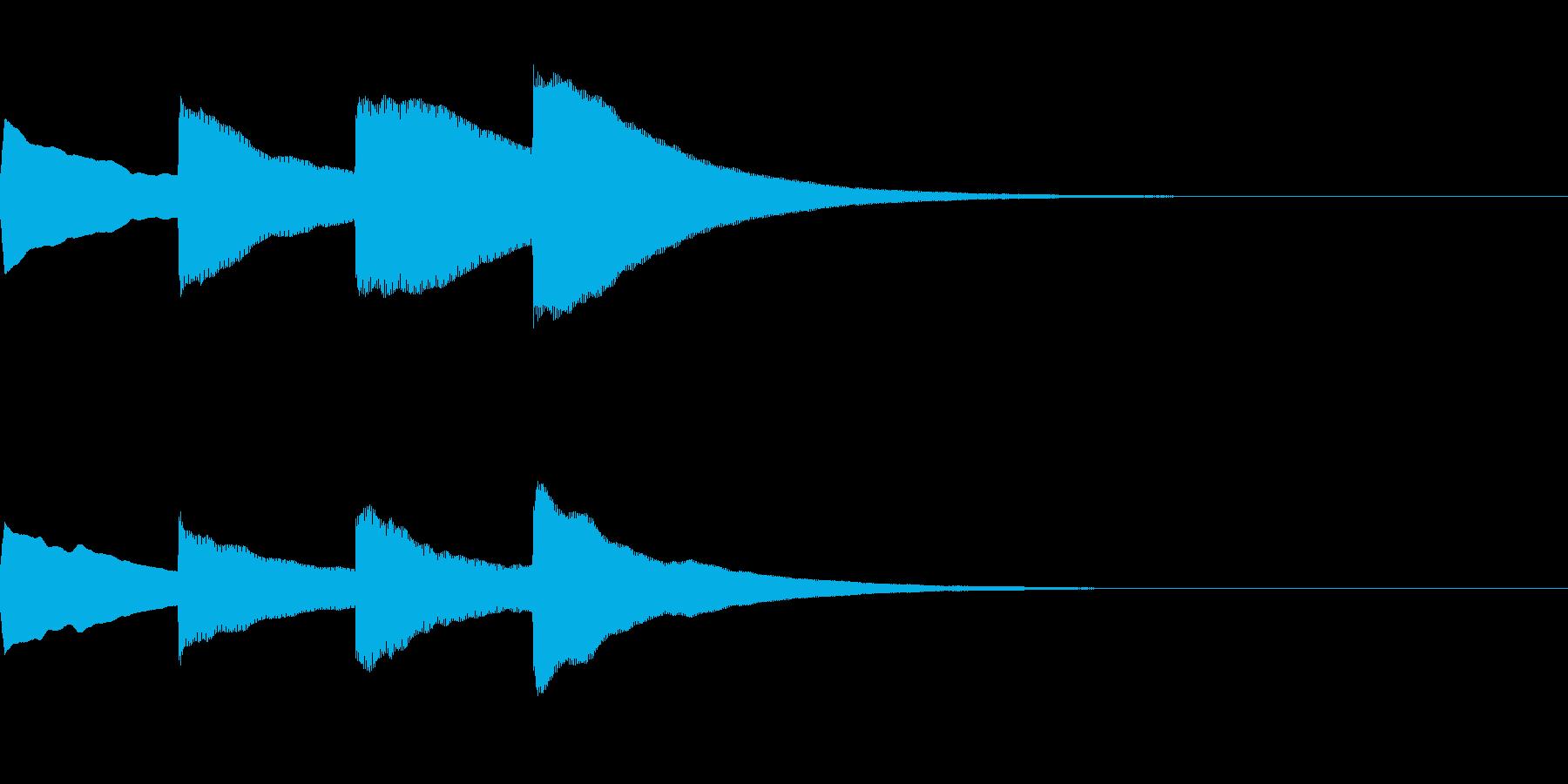 お知らせ・アナウンス音B上昇(遅め)05の再生済みの波形