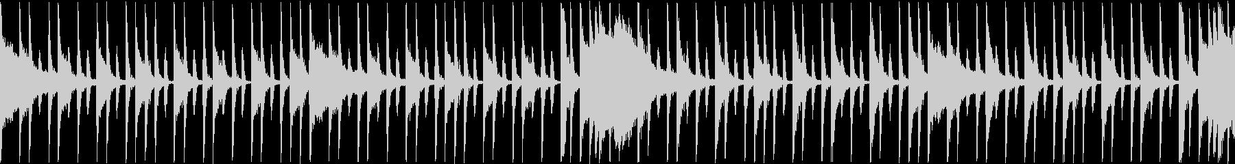 ロックドラム系のループBGMの未再生の波形