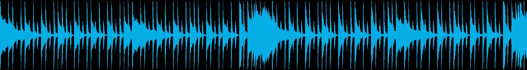 ロックドラム系のループBGMの再生済みの波形