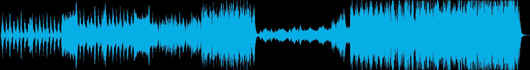 静かに荒れる心の二極を描いた曲の再生済みの波形