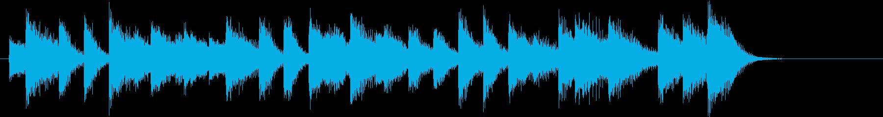 ブルース♪童謡・春よ来いピアノジングルAの再生済みの波形