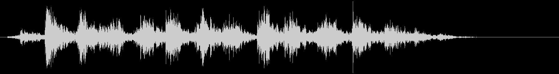 タンバリン 連続(シャシャシャッ…)の未再生の波形