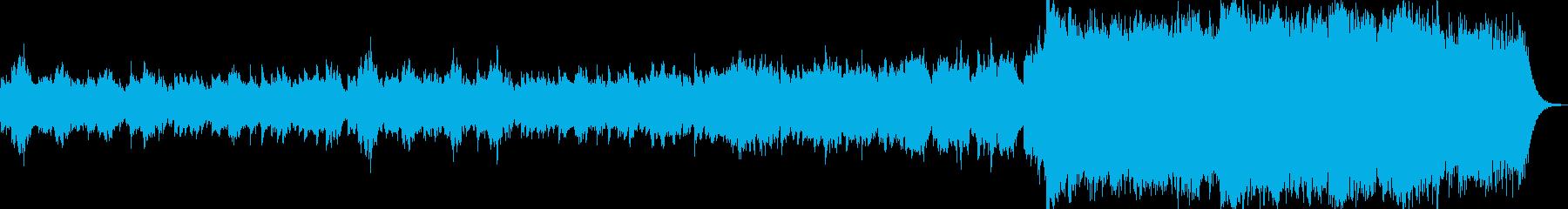 ピアノ、ストリングスの悲しいBGMの再生済みの波形
