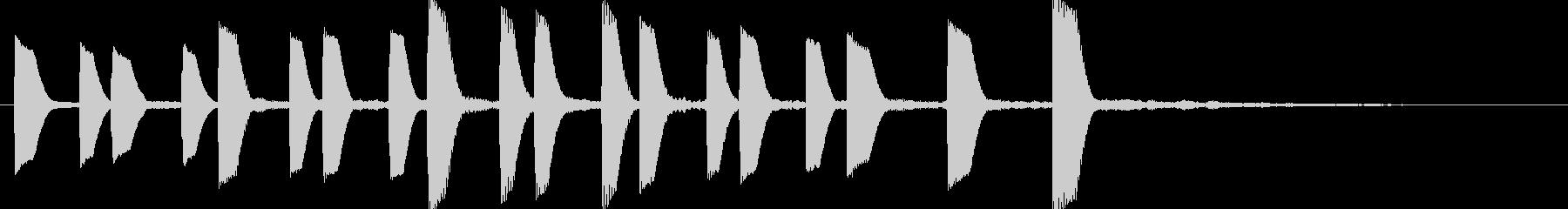 ほのぼのしたエレピのジングルの未再生の波形