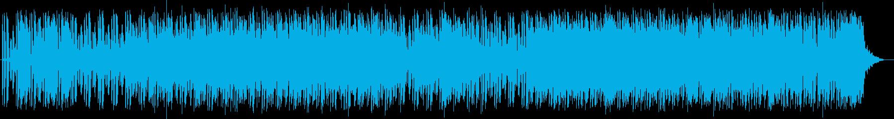 マイナーでクールなシンセとエレキサウンドの再生済みの波形