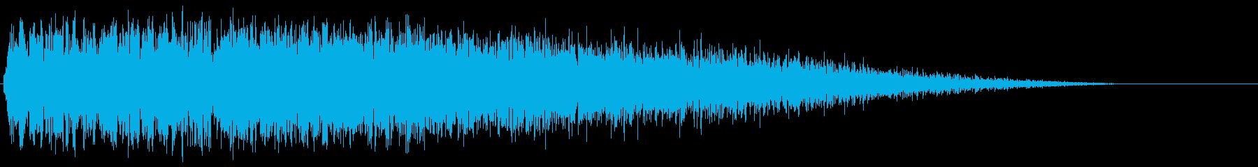 爆発的なスイープの再生済みの波形