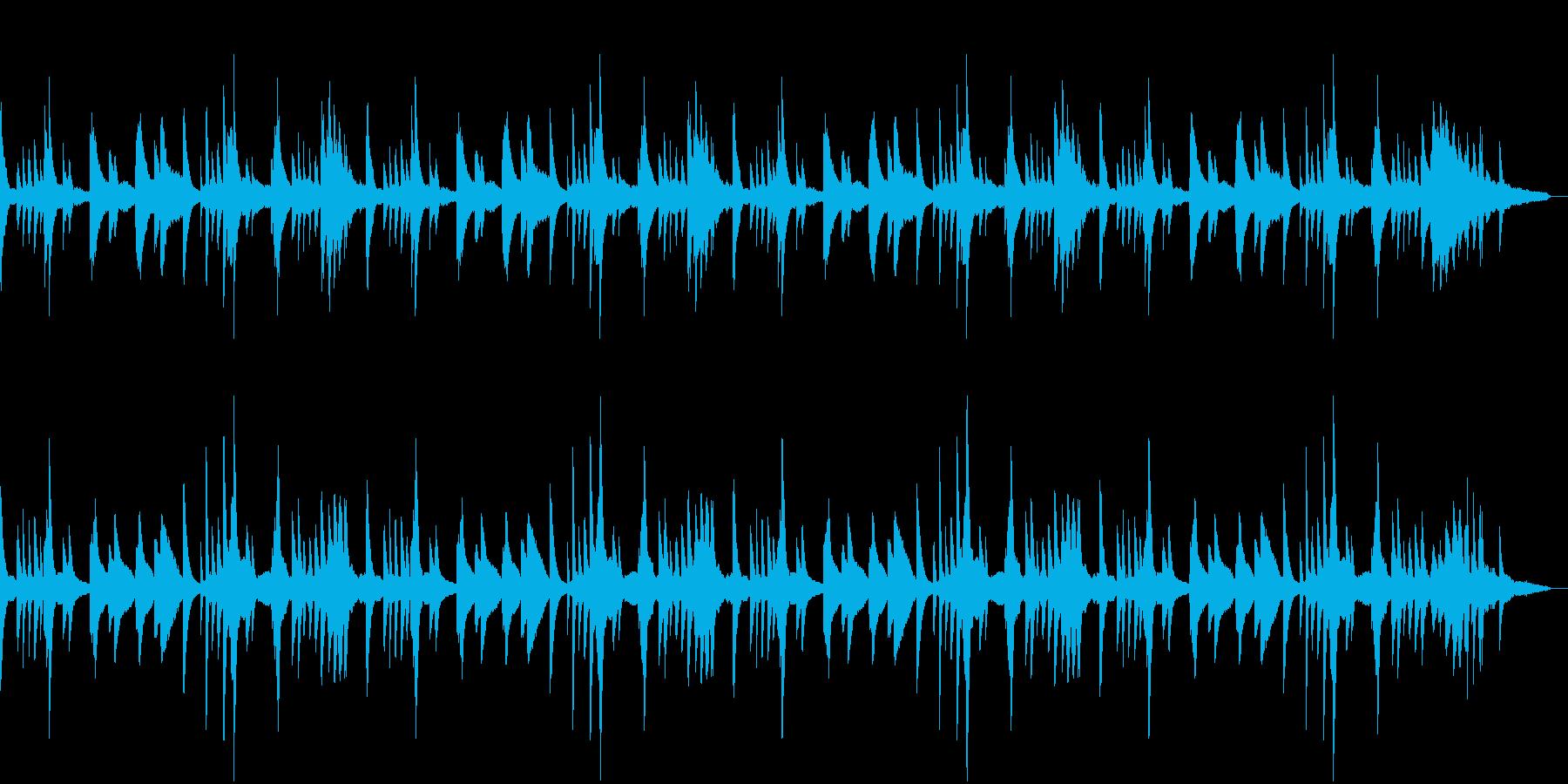 ハープっぽい神々しい幻想的ピアノBGMの再生済みの波形