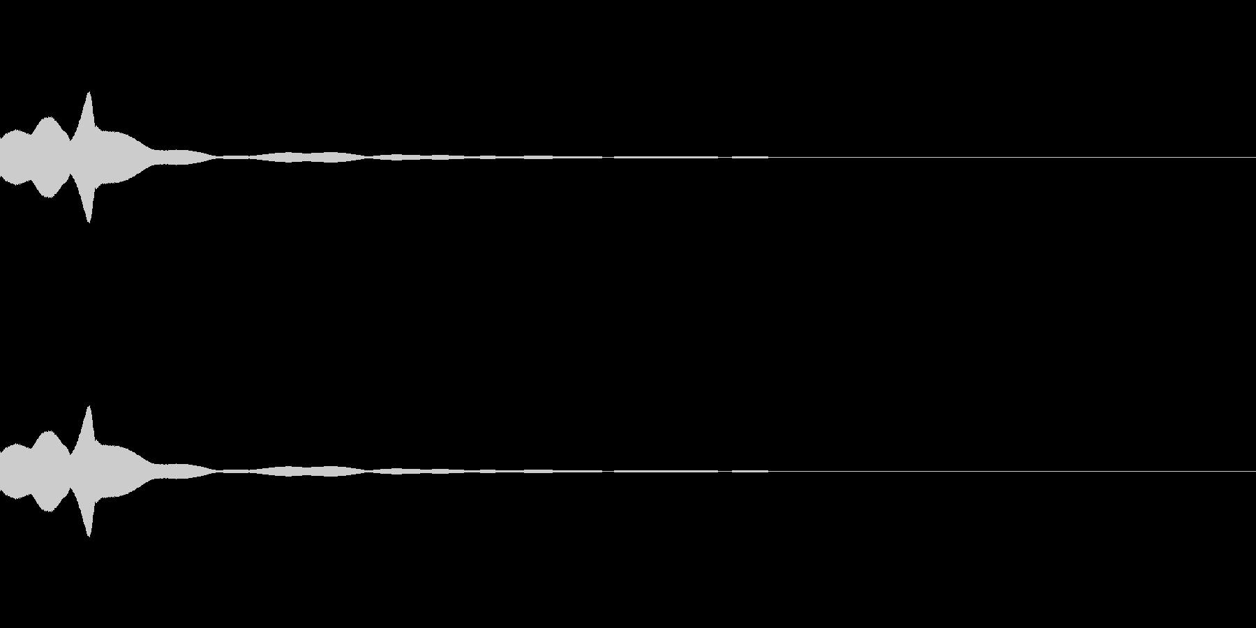 キュイン(選択・決定)の未再生の波形
