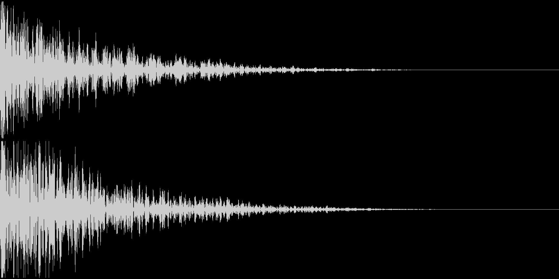 ドーン-13-2(インパクト音)の未再生の波形
