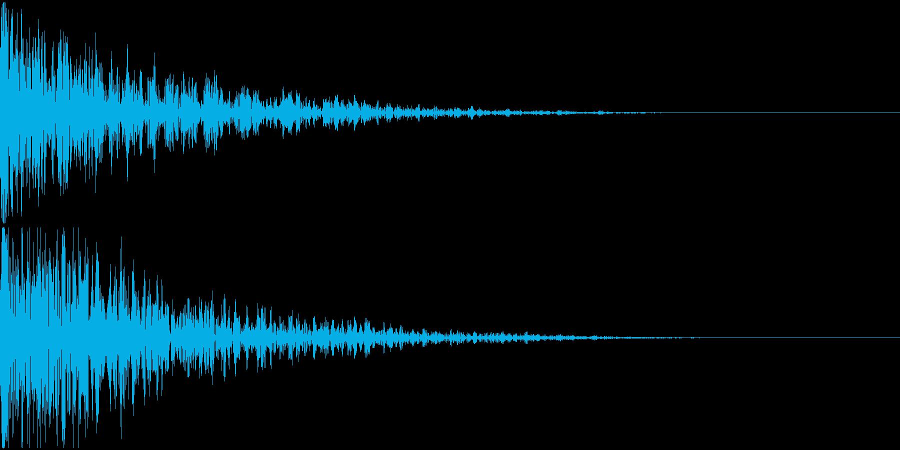 ドーン-13-2(インパクト音)の再生済みの波形